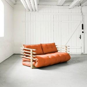 Sofa rozkładana dwuosobowa Karup Funk Natural/Orange