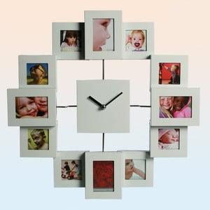 Zegar ścienny Family, biały