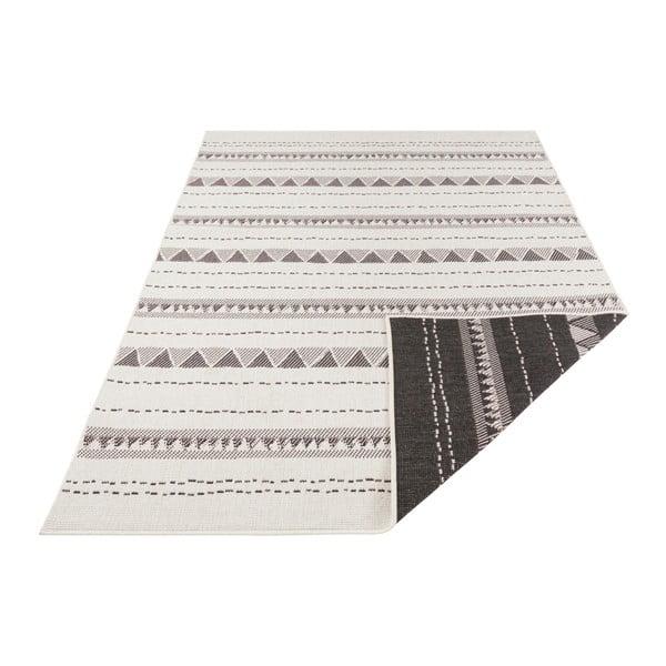 Czarno-kremowy dywan dwustronny odpowiedni na zewnątrz Bougari Bahamas, 200x290 cm