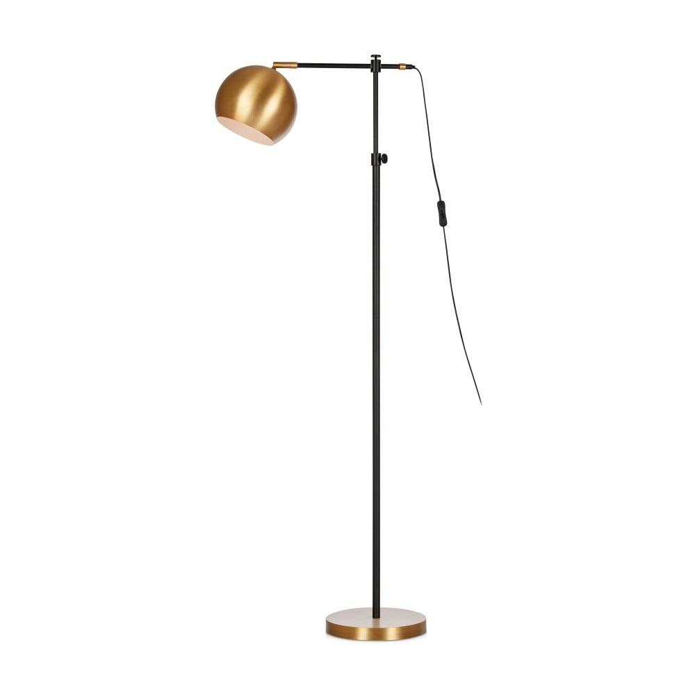 Czarno-brązowa lampa stojąca Markslöjd Chester