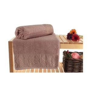 Zestaw 2 jasnofioletowych ręczników kąpielowych Balon, 90x150 cm