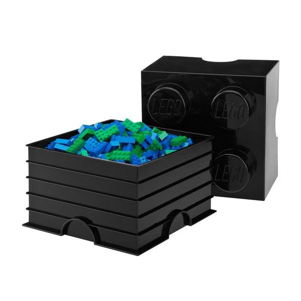 Czarny pojemnik kwadratowy LEGO®