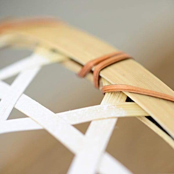 Biały koszyk bambusowy a'miou home Shadows, ⌀ 33 cm