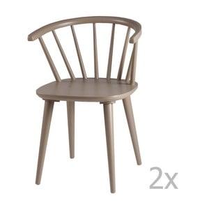 Zestaw 2 jasnoszarych krzeseł sømcasa Anya