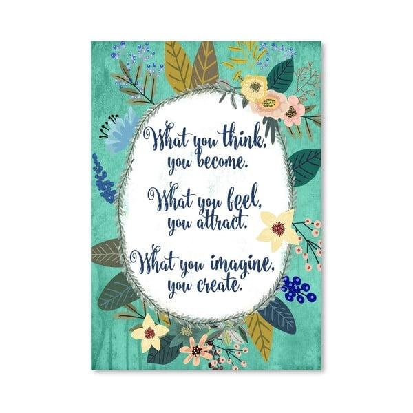 Plakat (projekt: Mia Charro) - What You Think