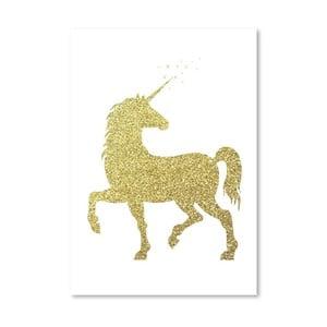 Plakat Americanflat Glitter Unicorn, 30x42 cm