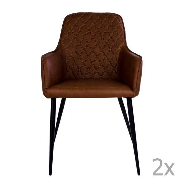 Zestaw 2 brązowych krzeseł House Nordic Harbo