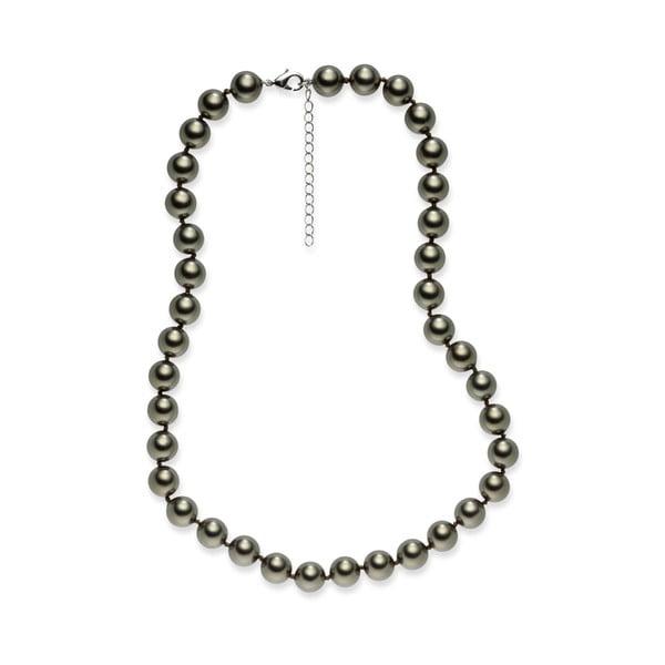 Jasnoszary   naszyjnik z pereł Pearls of London Mystic, 45 cm