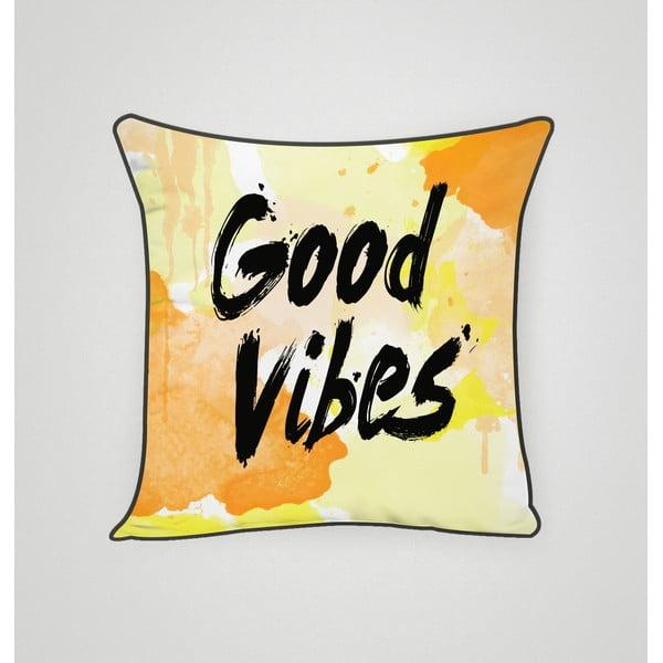 Poszewka na poduszkę Good Vibes, 45x45 cm