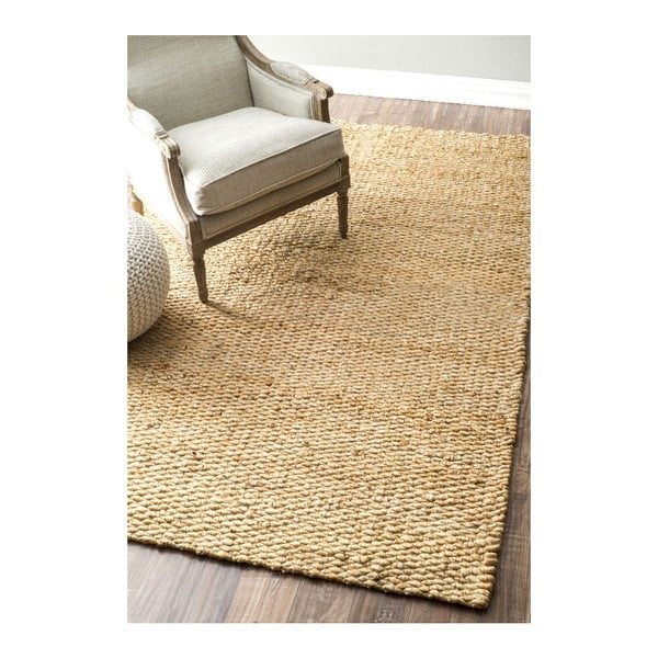 Dywan tkany ręcznie nuLOOM Fluffy Natural, 152x244 cm