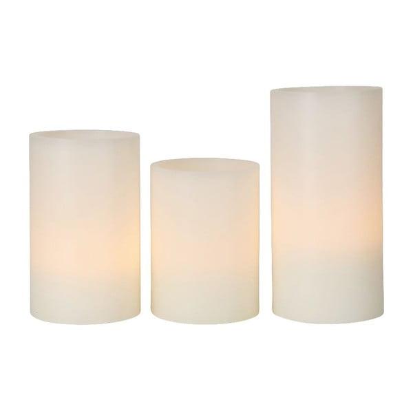 Zestaw 3 świeczek woskowych LED Best Season Wax