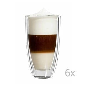 Zestaw 6   dużych kubków na latte macchiato bloomix Roma
