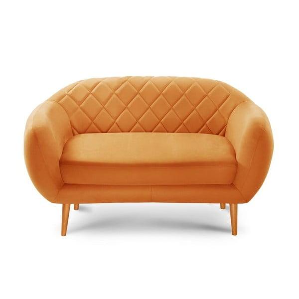 Pomarańczowa sofa 2-osobowa Scandi by Stella Cadente Maison Diva