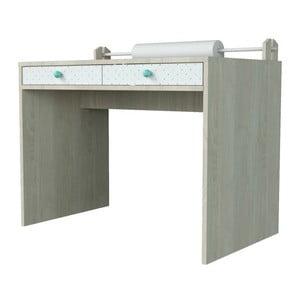 Małe biurko z zielonymi elementami Dotties