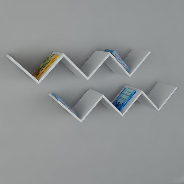 Półka Zig Zag White, 22x129x50 cm