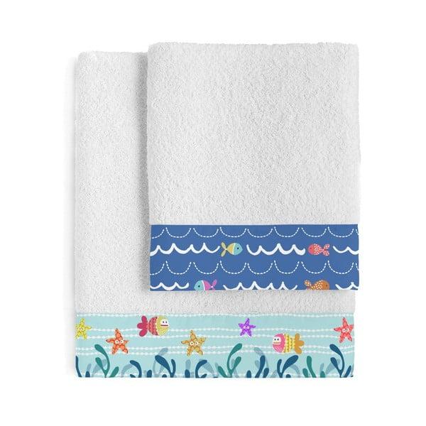 Zestaw 2 ręczników dziecięcych Moshi Moshi Sei Life