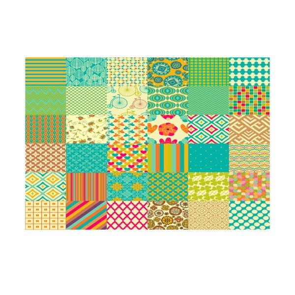 Winylowy dywan Cuadros Texturas Retro, 133x200 cm