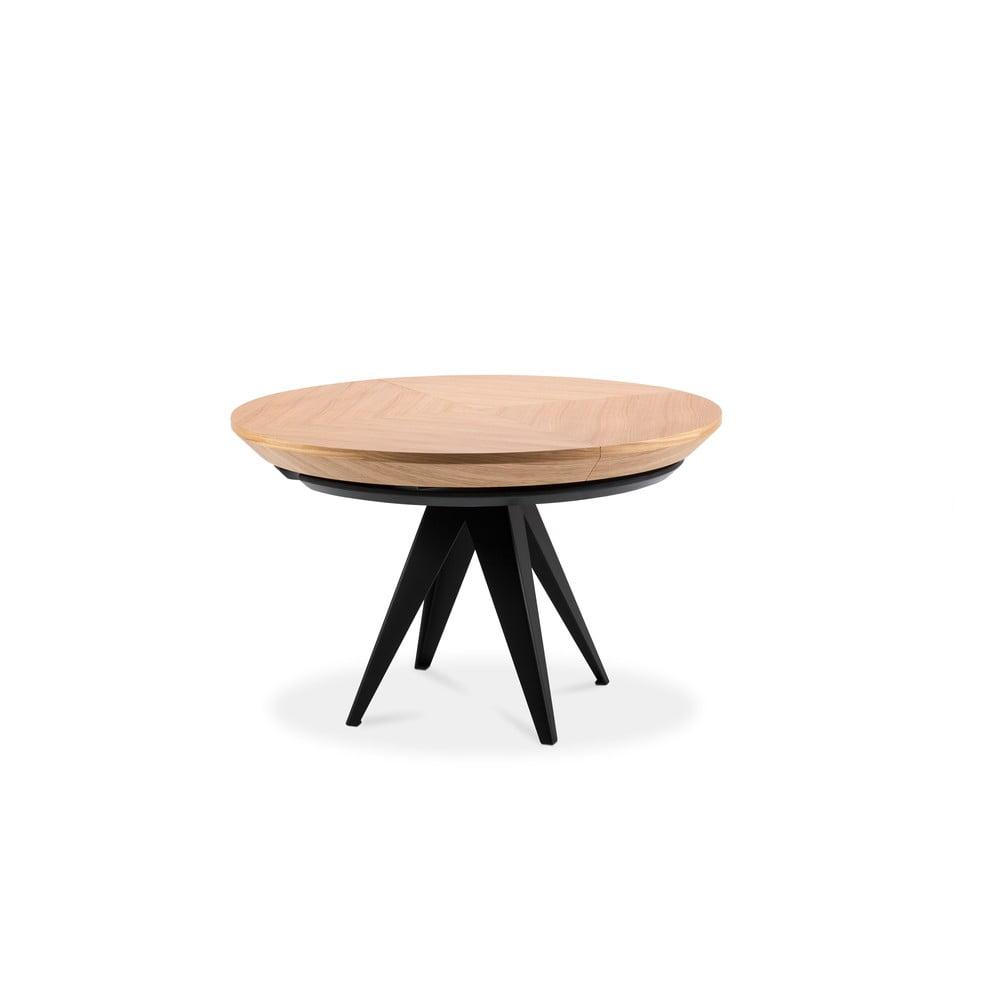 Stół rozkładany z czarnymi metalowymi nogami Windsor & Co Sofas Magnus, ø 120 cm