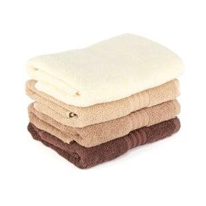Zestaw 4 brązowych ręczników Rainbow Home, 70x140 cm