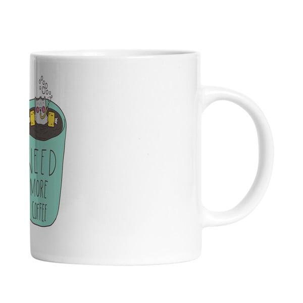 Ceramiczny kubek Need Coffee, 330 ml
