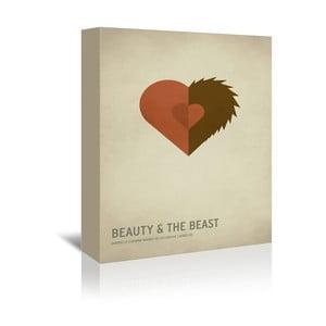 Obraz na płótnie Beauty and the Beast With Text