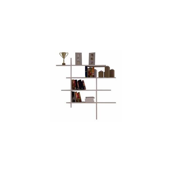 Półka wisząca Cizgi no.4, biała