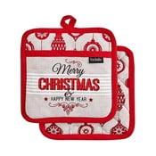 Zestaw 2 podkładek pod gorące naczynia z motywem świątecznym Ladelle Merry Christmas
