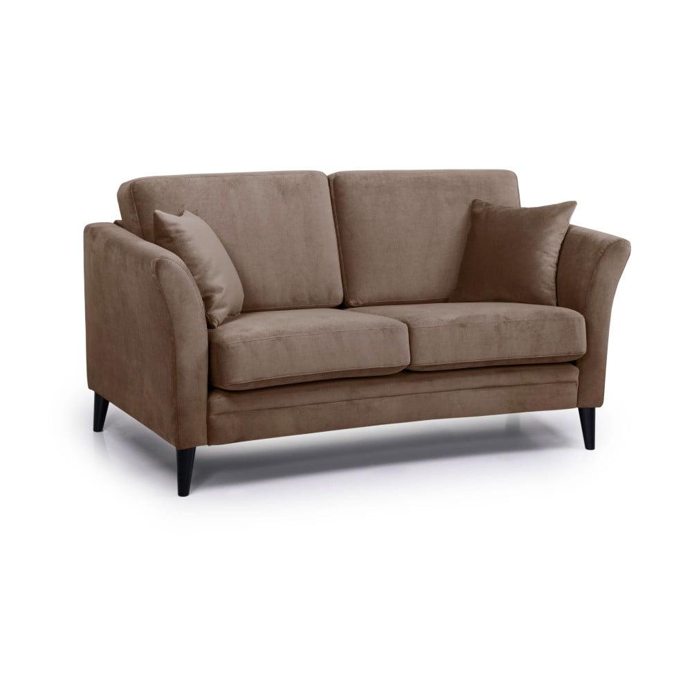 Kawowa sofa 2-osobowa Scandic Eden