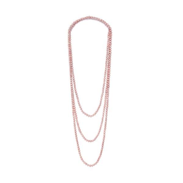 Naszyjnik z różowych pereł słodkowodnych Fresh 250 cm, różowy