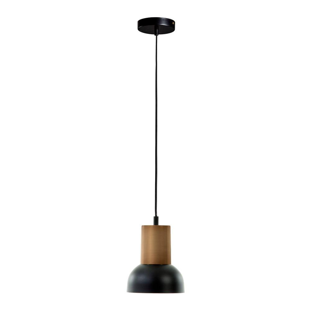 Czarna lampa wisząca La Forma Amina, wys. 15 cm