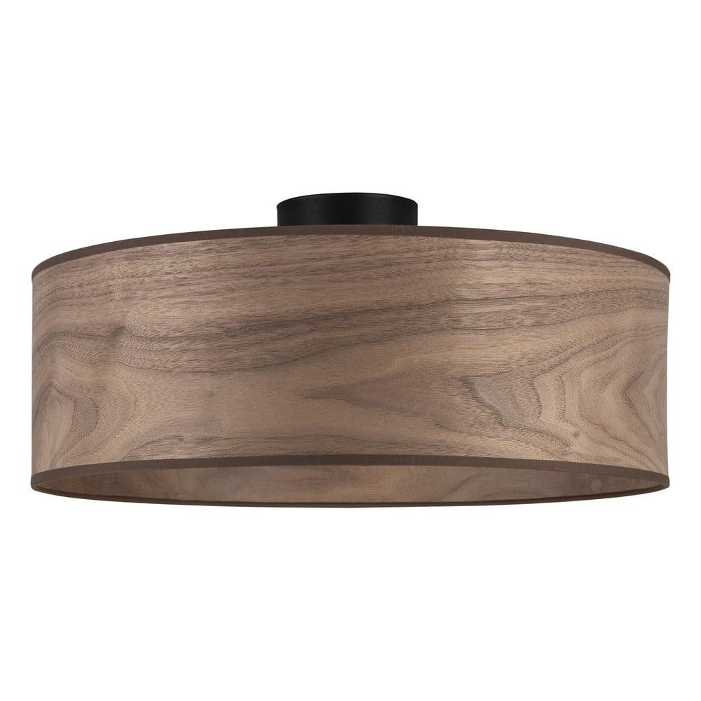 Lampa sufitowa z kloszem z drewna orzechowego Sotto Luce TSURI XL