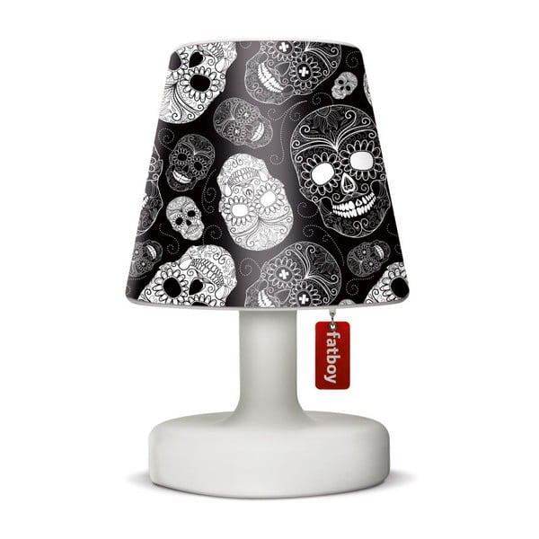 Lampa Fatboy Edison Petit, 25 cm + klosz Skull Black