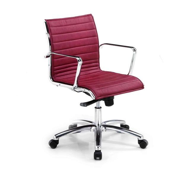 Bordowe krzesło biurowe na kółkach Chrono Zago
