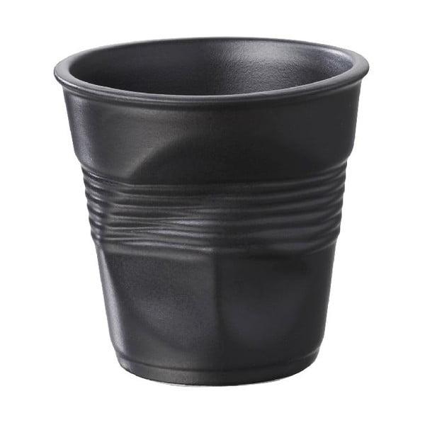 Filiżanka na espresso Froisses 8 cl, czarna