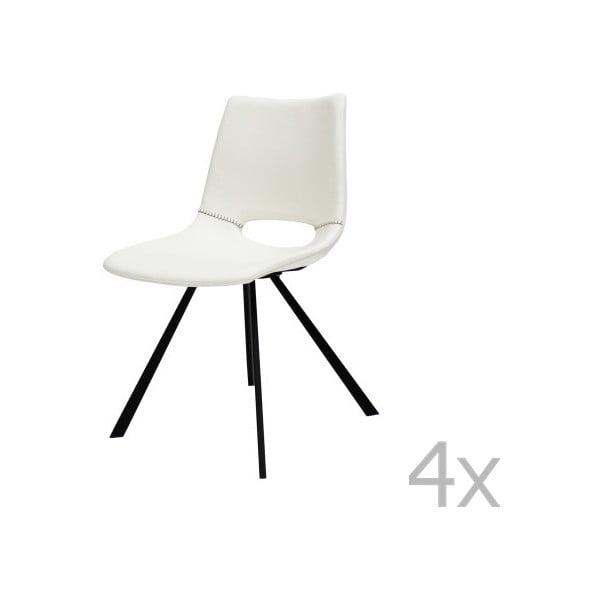 Zestaw 4 białych krzeseł Canett Coronas