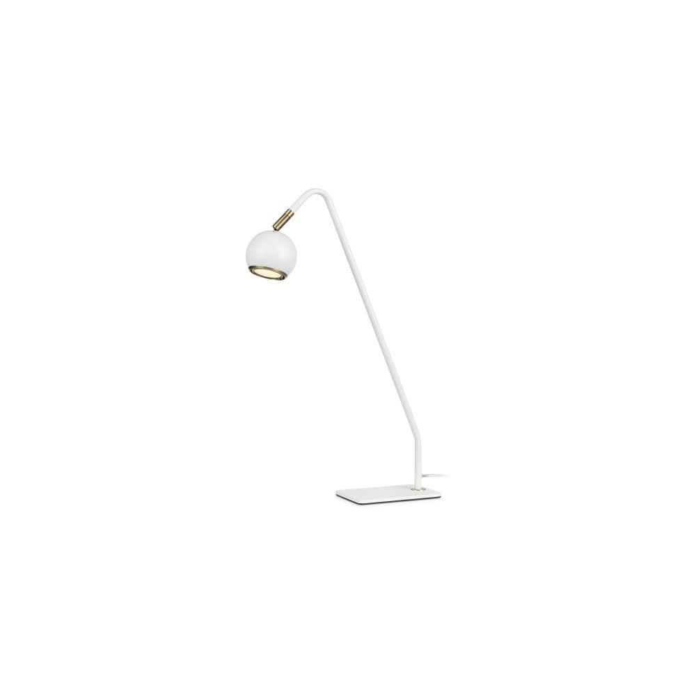 Biała lampa stołowa Markslöjd Coco, wys. 47 cm