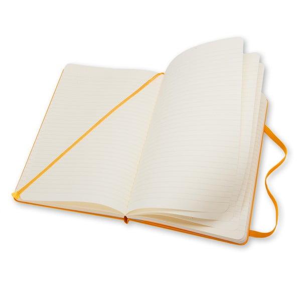 Notatnik Moleskine Hard 21x13 cm, żółty + strony w linię