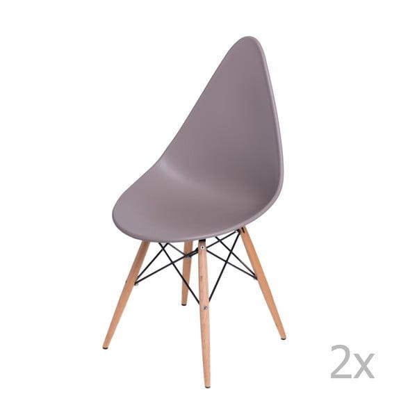 Zestaw 2 szarych krzeseł D2 Rush DWS
