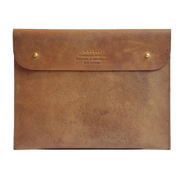 Brązowe etui skórzane na iPad O My Bag Sleeve