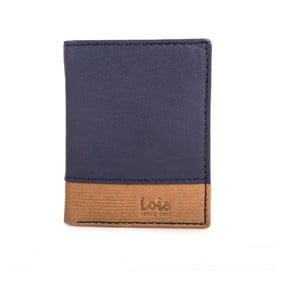 Skórzany portfel Lois Blue, 8,5x10,5 cm