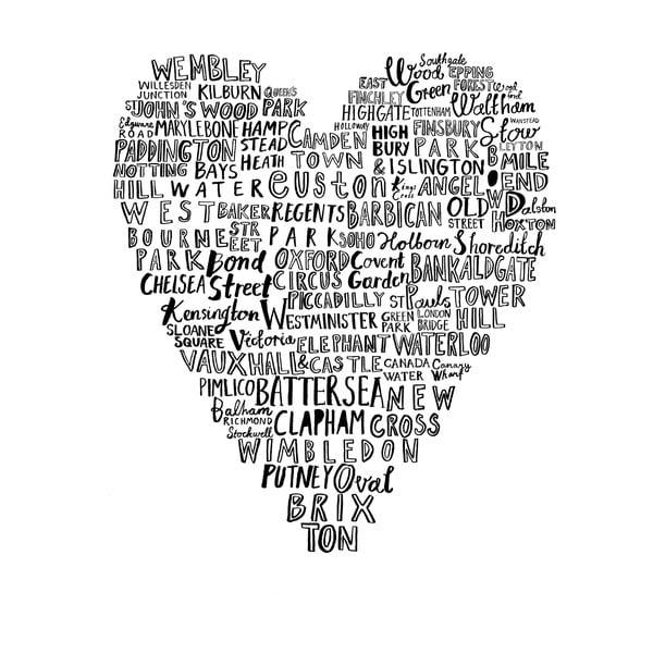 Plakat Heart London, 30x40 cm