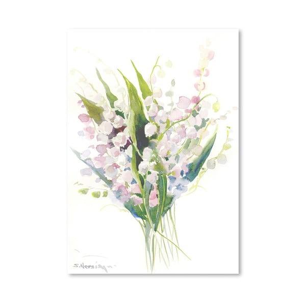 Plakat Pink Lilies (projekt Suren Nersisyan)