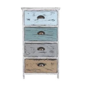 Kolorowa szafka z 4 szufladami Clayre & Eef