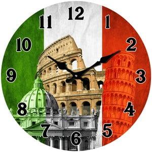 Szklany zegar W Italii, 34cm
