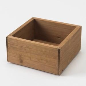Drewniany pojemnik Vintage Box, 14x14 cm