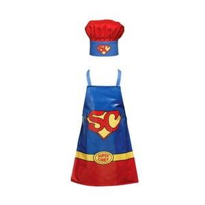 Dziecięcy zestaw fartucha i czepka Superchef