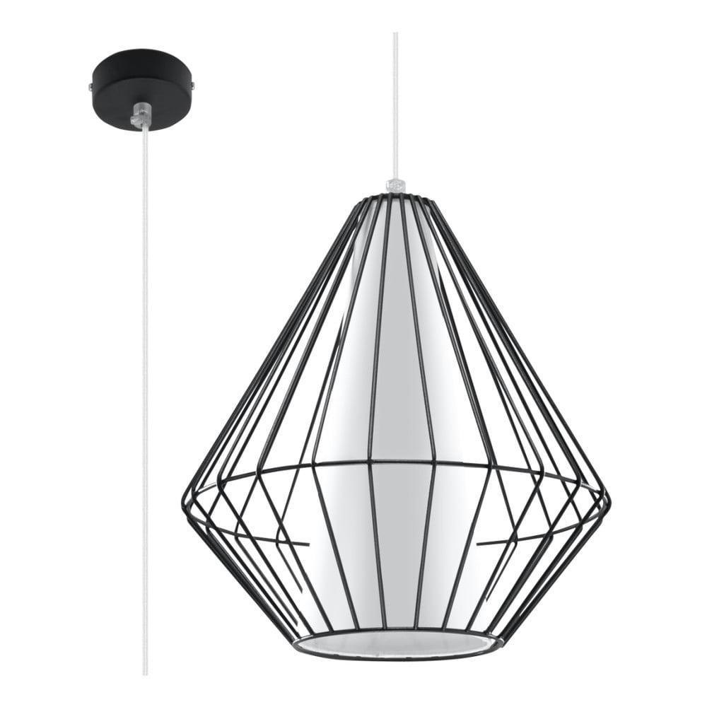 Czarna lampa wisząca Nice Lamps Alfredo