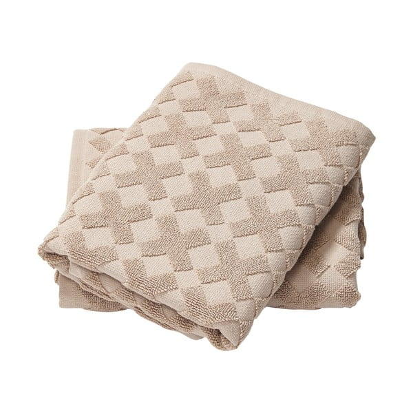 Ręcznik Cross Taupe, 133x70 cm