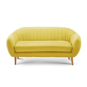 Żółta sofa 3-osobowa Scandi by Stella Cadente Maison Comete