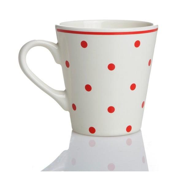 Porcelanowy kubek Czerwone groszki, 275 ml